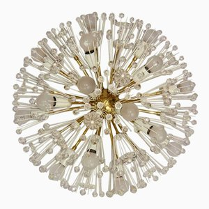 Large Flush Mount Sputnik Ceiling Lamp by Emil Stejnar for Rupert Nikoll, 1950s