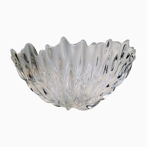 Vintage Crystal Sculptural Bowl by Per Lütken for Royal Copenhagen, 1991