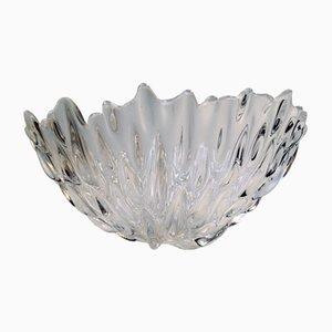 Vintage Kristallglas Schale von Per Lütken für Royal Copenhagen, 1991