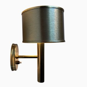 Vintage Danish Brass Wall Light by Svend Mejlstrøm for Mejlstrøm Belysning, 1970s
