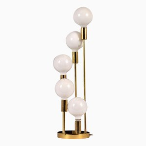 Mid-Century Modern Messing Tischlampe, 1960er