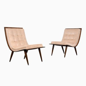 Mid-Century Modern Scoop Chairs, 1960s, Set of 2