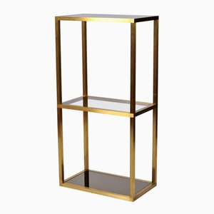 French Brass Shelves, 1970s