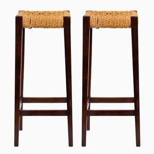 Bar Stools by Audoux & Minet, 1950s, Set of 2