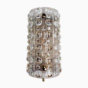 Lampada da parete in vetro a bolle di Carl Fagerlund per Orrefors, anni '50