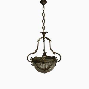 Lampe à Suspension Vintage en Cristal, France
