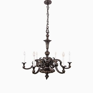Large Bronze Chandelier, 1890s