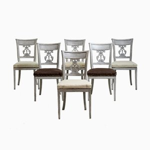Dining Chairs with Carved Backs, 1820s, Set of 6