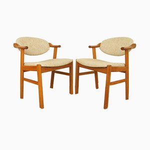 Mid-Century Teak Chairs by Kai Kristiansen for Schou Andersen, 1960s, Set of 2