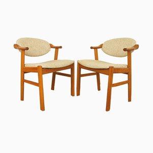 Mid-Century Teak Stühle von Kai Kristiansen für Schou Andersen, 1960er, 2er Set