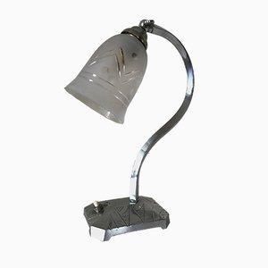 Lampe Art Déco en Nickel Plaqué Laiton