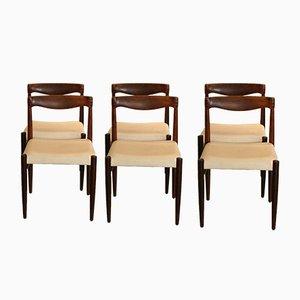 Palisander Stühle von H.W. Klein für Bramin, 1960er, 6er Set