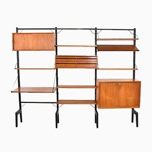 Mueble de pared independiente vintage de Poul Cadovius