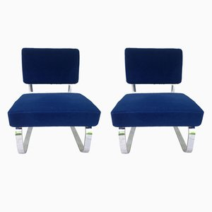 Mid-Century Cantilever Lounge Chairs, Set of 2