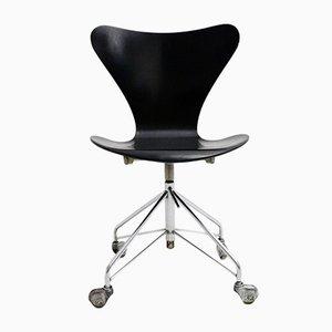 Sedia da ufficio nr. 996 girevole di Arne Jacobsen per Fritz Hansen, anni '50