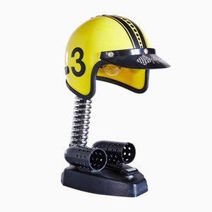 Vintage Helm Tischlampe, 1970er