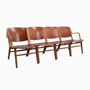 AX Sessel von Peter Hvidt & Orla Mølgaard-Nielsen für Fritz Hansen, 1960er, 4er Set