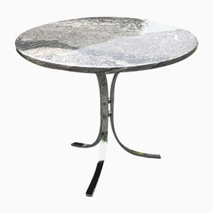 Danish Marble & Chrome Table, 1970s