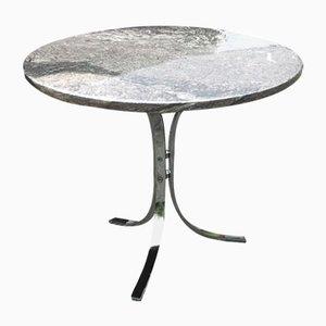 Tavolo in marmo e metallo cromato, Danimarca, anni '70