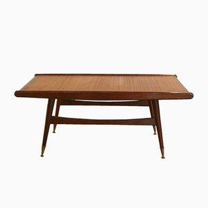 Table Basse Mid-Century avec Pieds en Laiton, 1950s