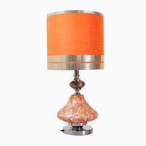 Lámpara de mesa grande con base iluminable, años 50