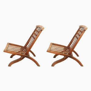 French Folding Chairs from Pierre Dariel, 1920s, Set of 2