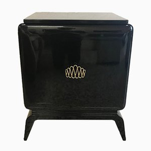 Black Art Deco Cabinet, 1940s
