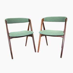 Sedie di Kai Kristiansen per Schou Andersen, Danimarca, anni '60, set di 2