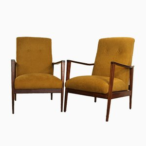 Mid-Century Easy Chairs by Cruz de Carvalho for Altamira, Set of 2