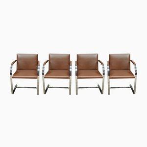 Chaises Brno Flat-Bar par Mies van der Rohe pour Knoll, 1960s, Set de 4