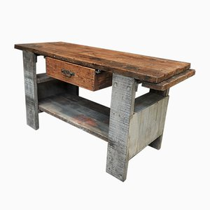 French Fir Carpenter's Bench, 1930s