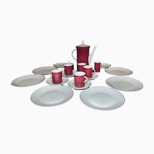 Vintage Secunda Purpur 8 Coffee Service for 6 by Theo Hans Baumann for Rosenthal