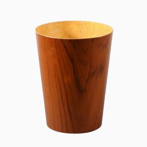 Laminated Teak Paper Basket by Martin Aberg for Servex, 1950s
