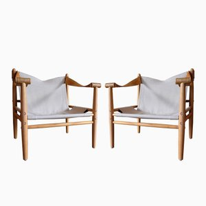 Swedish Safari Chairs from Gärsnäs, 1960s, Set of 2