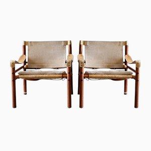 Sirocco Safari Stühle von Arne Norell, 1960er, 2er Set
