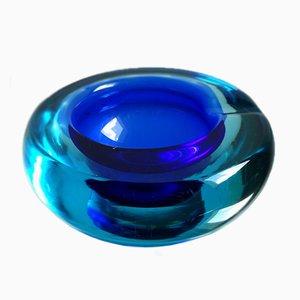 Cuenco de cristal de Murano de Alfredo Barbini, años 60