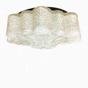 Lámpara de techo floral de vidrio, años 60