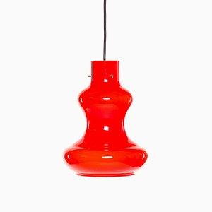Lampe à Suspension Mid-Century Moderne en Verre Murano Rouge par Massimo and Lella Vignelli pour Vistosi, 1960s