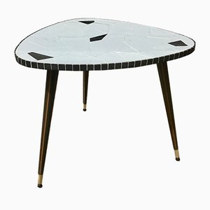 Mid-Century Tiled Triangle Side or Coffee Table, 1950s