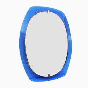 Blauer Spiegel von Veca, 1960er