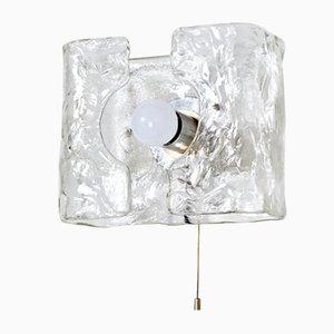 Lámpara de pared de vidrio texturizado de Kalmar, años 60