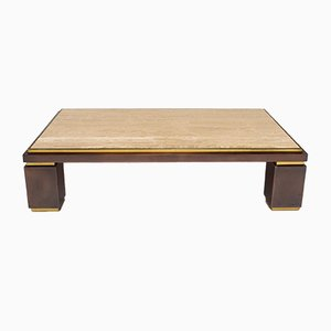 Table Basse en Travertine de Belgo Chrom, 1970s