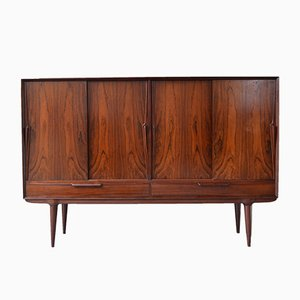 Model 13 Rosewood Highboard from Omann Jun, 1960s