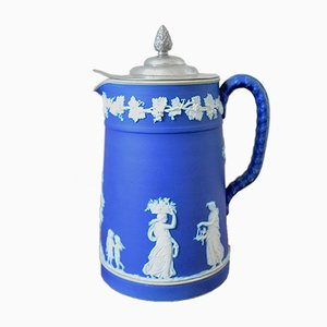 Blue Jasper Ware Wine Jug from Wedgwood, 1880s