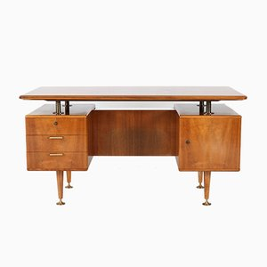 Mid-Century Modern Walnut Desk by A.A. Patijn for Poly-Z, 1960s