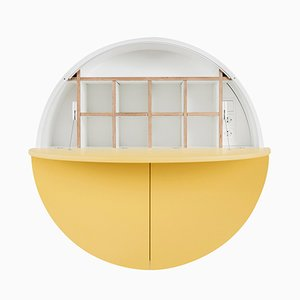 Mueble Multifunctional Pill en blanco y amarillo de Dalius Razauskas para Emko