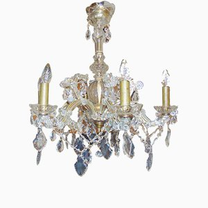 Vintage Crystal Glass Chandelier