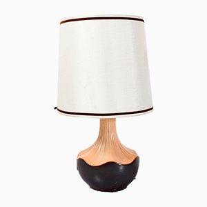 Lámpara de mesa con base de corazón de manzana, años 70