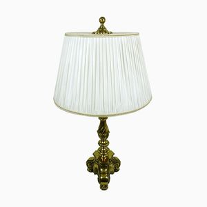 Table Lamp with Decorative Brass Base, 1950s
