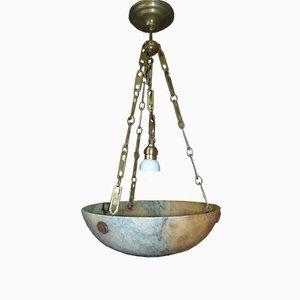 Art Deco Alabaster Bowl Pendant
